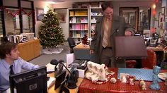 Jim gives Dwight a beautifully wrapped replica of his desk. #TheOffice
