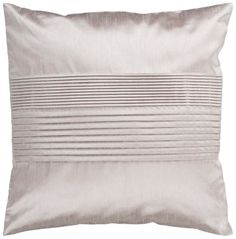 Center Pleated Taupe Silver Square Surya Throw Pillow #interior_design #home_accessories See more http://www.eurostylelighting.com/home+accessories-category/search.htm
