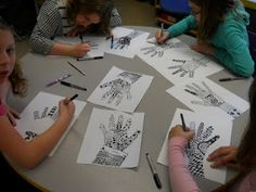 zentangle hands with lively music.