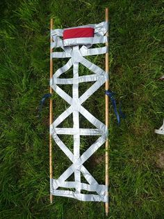 Emergency Duct Tape Field Stretcher