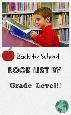 Back to School Books Listed for Kids by Grade Level!-->http://www.debtfreespending.com/back-to-school-books-for-kids/