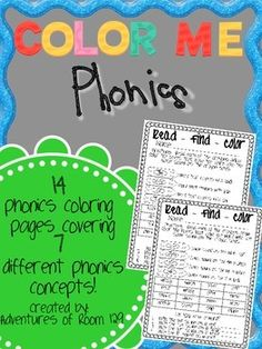 Color Me Phonics - Fun coloring pages for students to review different phonics concepts!