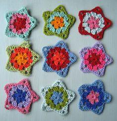Granny square stars