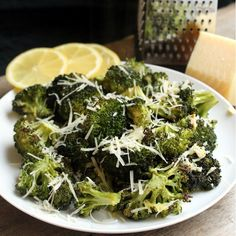 Lemon Garlic Roasted Broccoli by thestayathomechef #Broccoli