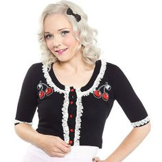 Cherry Bella Cardigan to pair with all of your vintage favorites! #InkedShop #cardigan #cherries #style #fashion #cute #pinup