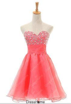Short Homecoming Dress  Coral Homecoming Dress