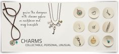 Love these personalizable charm bracelet and necklace