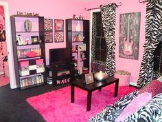 zebra-teen-room-black-pink