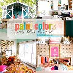 wall colors, house tours, new houses, gold stencil, room reveal