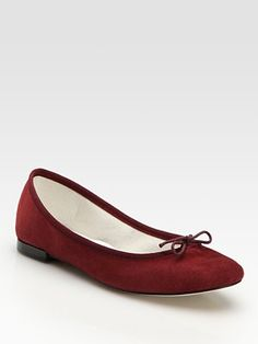 Repetto Suede Ballet Flats $265.00
