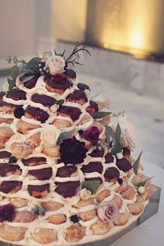Doughnut Wedding Cake | photography by http://amycampbellphotography.com