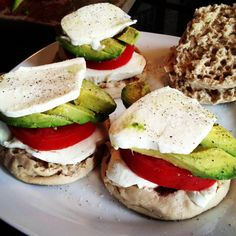 grilled sandwhiches, english muffins, mozzarella grill, avocado sandwhich, food