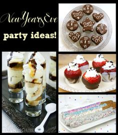 New Year's Eve Party Ideas!!  *Recipes*   ~Cheesecake Shooters: http://blog.candiquik.com/?p=5090   ~Strawberry Shot Glasses: http://blog.candiquik.com/?p=2331   ~Clock Cookies: http://blog.candiquik.com/?p=5038   ~Prezel Sparklers: http://candiquik.com/recipes/?recipe=new-years-pretzel-rods