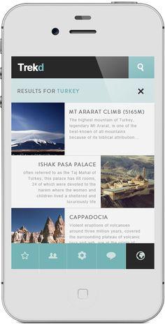 App | Trekd Concept on Behance #grafica #web #smartphone