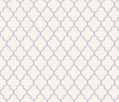Lavender Ogee fabric by sparrowsong on Spoonflower - custom fabric