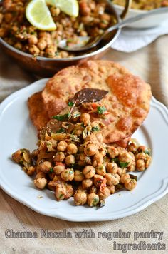 Channa Masala with easily available ingredients