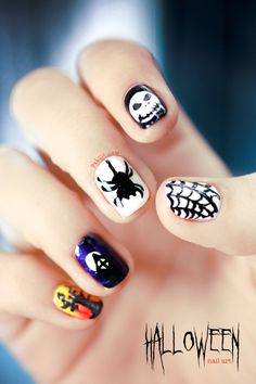 Halloween Nail art by pshiiit.com