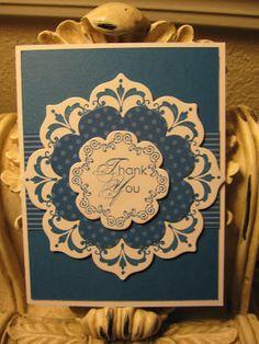 Karen's Angelic Impressions uses Stampin Up's Daydream Medallion stamp set with coordinating floral framelits die