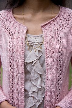 Alexandria Cardigan #Knit cardigan knitting, ravelry sweater patterns, knit sweaters, pink cardigan, alexandria cardigan, knitted cardigan pattern, knit sweater cardigan, lace patterns, knit patterns