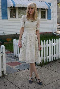 Polka dots dress.