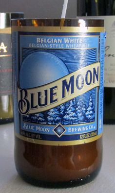 Blue Moon Beer  Belgian and Agave Nectar  Recycled by CandlesByOC, $11.00