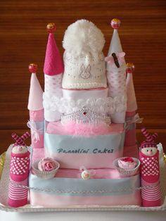 castle cakes  castello di pannolini