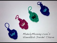 Made by Mommy's Hanukkah Dreidel Charm on the Rainbow Loom