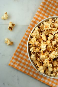 Sriracha Popcorn by authenticsuburbangourmet: Spicy,crunchy, chewy and healthy!  Perfect to enjoy with a glass of crisp Sauvignon Blanc, dry bubbly or a cold glass of beer. #Popcorn #Sriracha