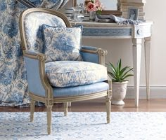 French blue chair.