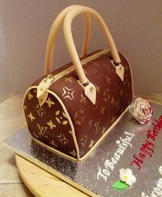 LV Purse Cake, via Flickr.