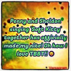 #thebigbangtheory #big #bang #theory #penny #sheldon #softkitty #awesome #mademynite #still #laughing #nerd #at #heart #i #am #ig #iger #igers #versagram #instagram #tvshow - @foxymama923- #webstagram