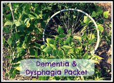 Ozark Speechie: Free Dementia and Dysphagia Resource. Pinned by SOS Inc. Resources. Follow all our boards at pinterest.com/sostherapy/ for therapy resources.