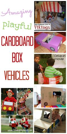 Super, playful ways to turn a cardboard box in to the best set of wheels around!