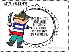 Cute activity about suffixes