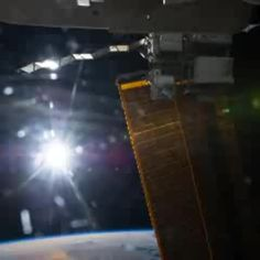1st Vine from space! Astronaut Reid Wiseman took this video from the International Space Station.  It shows a single Earth orbit (would be about 90 minutes real time). The space station's orbit was parallel to the terminator, in which case the sun never sets. June 5, 2014.
