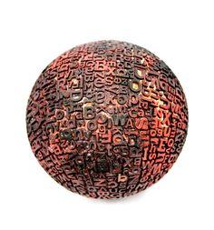 Typographic sphere by Eric Calderon, via Behance