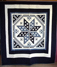 Postage Stamp Star Quilt white quilt, postag stamp, star quilts, stamp star