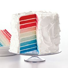 Red, White & Oooh! - Ombré Cake