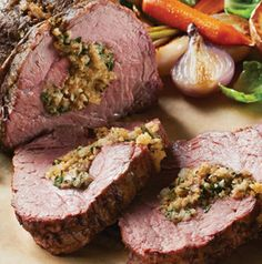 A special dinner calls for a special main course. Your sweetheart will love Stuffed Tenderloin Roast.
