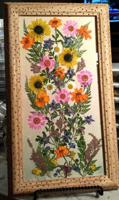 Real Pressed Flowers Orange Yellow Sunflowers on by FlowerFelicity, $64.99