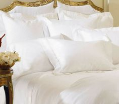 One touch tells you that the SFERRA Milos Bedding Collection promises a sublime sleeping experience.