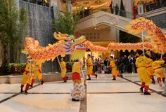 The Venetian Resort Hotel and Casino and the Palazzo Las Vegas celebrates Chinese New Year festivities with a traditional Dragon dance. Friday, January 31, 2014. (Photo/Las Vegas News Bureau, Darrin Bush)
