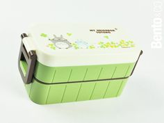 Two-tier Totoro bento box with chopsticks and built-in ice pack from Bento