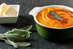 Sage and Garlic Whipped Sweet Potatoes