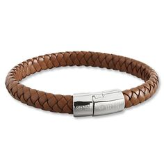 Braided-Leather Bracelet - Find supplies to make similar bracelet here - http://store.goodybeads.com/store/beads-and-supplies/Beads-Supplies-Licorice-Leather.html