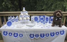 Adorable Bark Mitzvah doggy party!  See more party ideas at CatchMyParty.com!