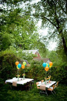 cute outside party idea