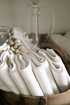 cloth napkins...