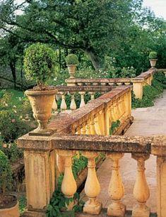 Antique garden terrace