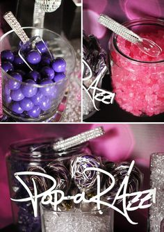 Add a sparkly touch to your pop star dessert bar with bling tongs & scoops from Talia's Creative Printing @Talia's Creative Printing